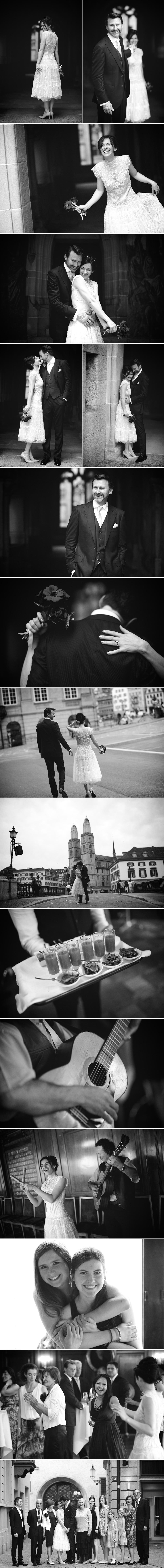 wedding in black and white_Zurich